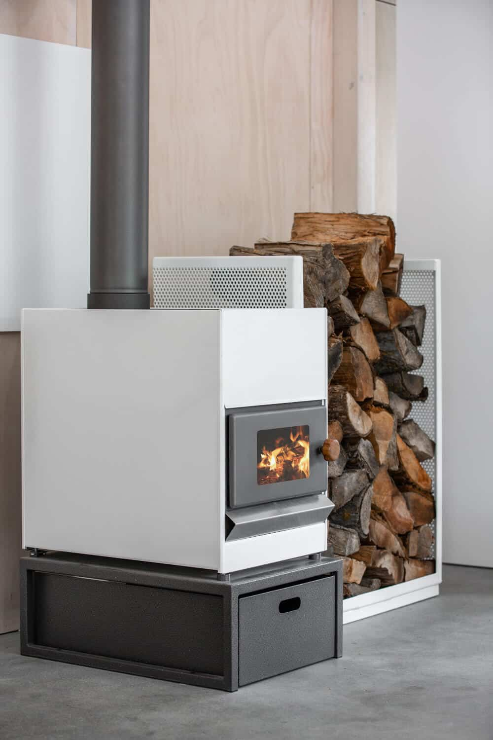 Pyroclassic Fire - Flat White Colour - Side Angle Insitu