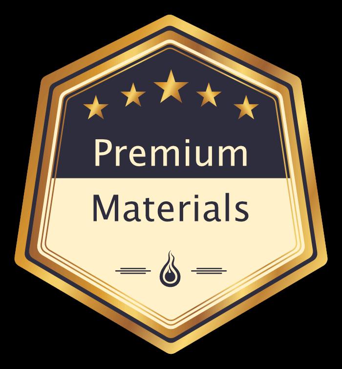 """Badge - """"Premium Materials"""""""