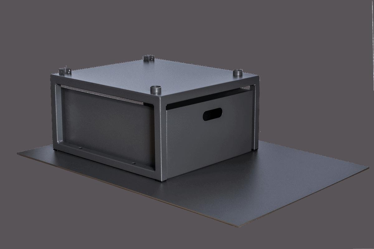 Small Wood Bin with Ash Floor Protector